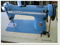 SINGER職業用ミシン188U Blue Champion足踏みテーブルタイプ